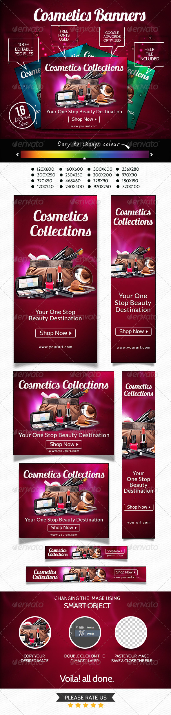 GraphicRiver Cosmetic Collection Banners 7173857