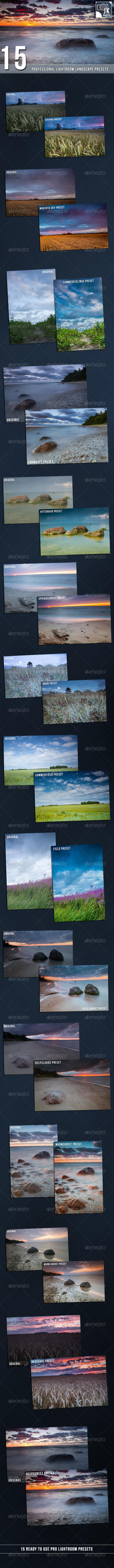 GraphicRiver 15 PRO Landscape and Nature Lightroom presets 7174086