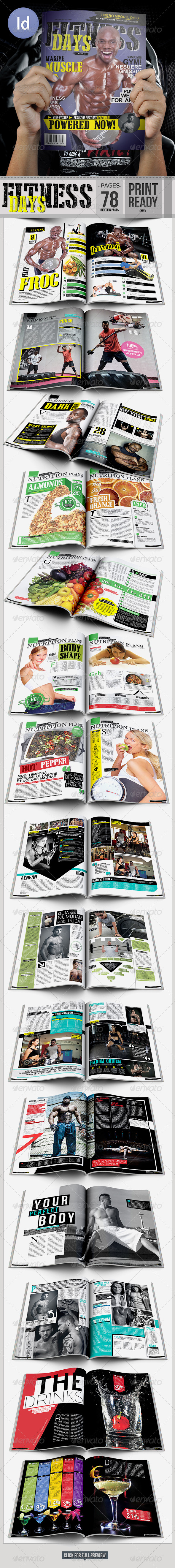GraphicRiver Fitness Day Magazine A4 7175065