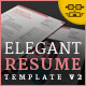 Elegant Resume/CV V2 - GraphicRiver Item for Sale