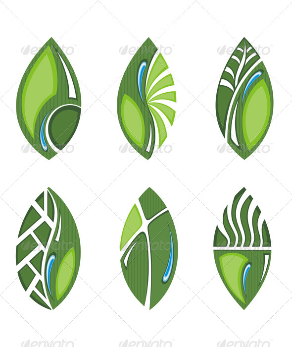 GraphicRiver Green leaves 7176553