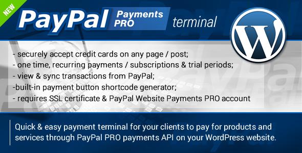CodeCanyon PayPal PRO Payment Terminal Wordpress 7177714