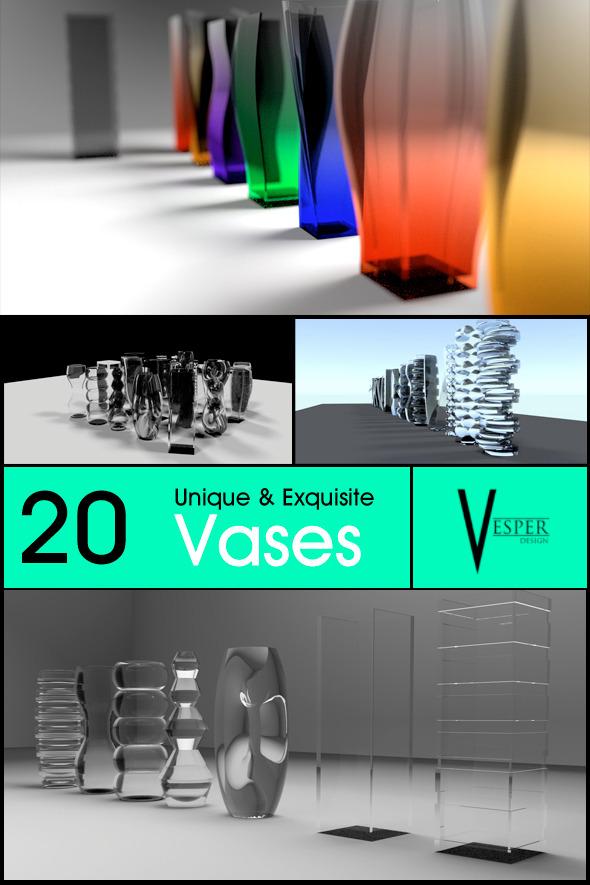 3DOcean Vesper Vases 7180224