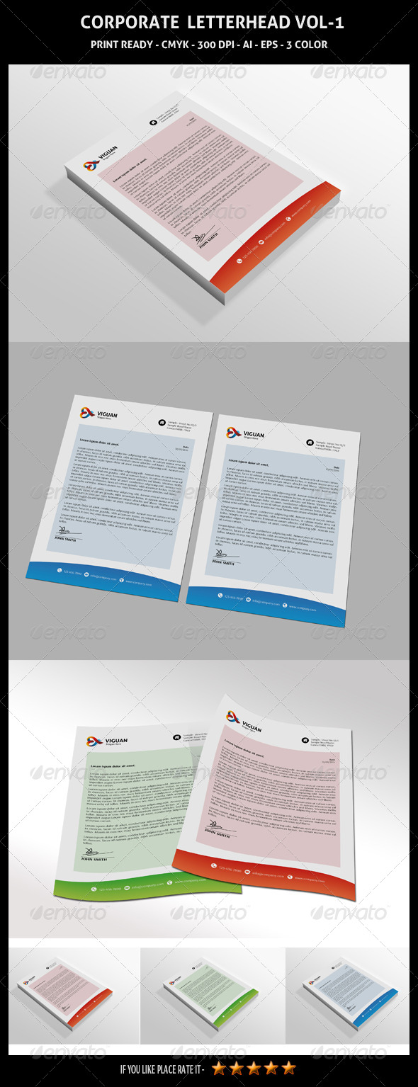 GraphicRiver Corporate Letterhead Vol-1 7180238