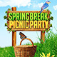 Spring Break Picnic Party Flyer - GraphicRiver Item for Sale