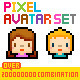 Pixel Avatar Set - GraphicRiver Item for Sale