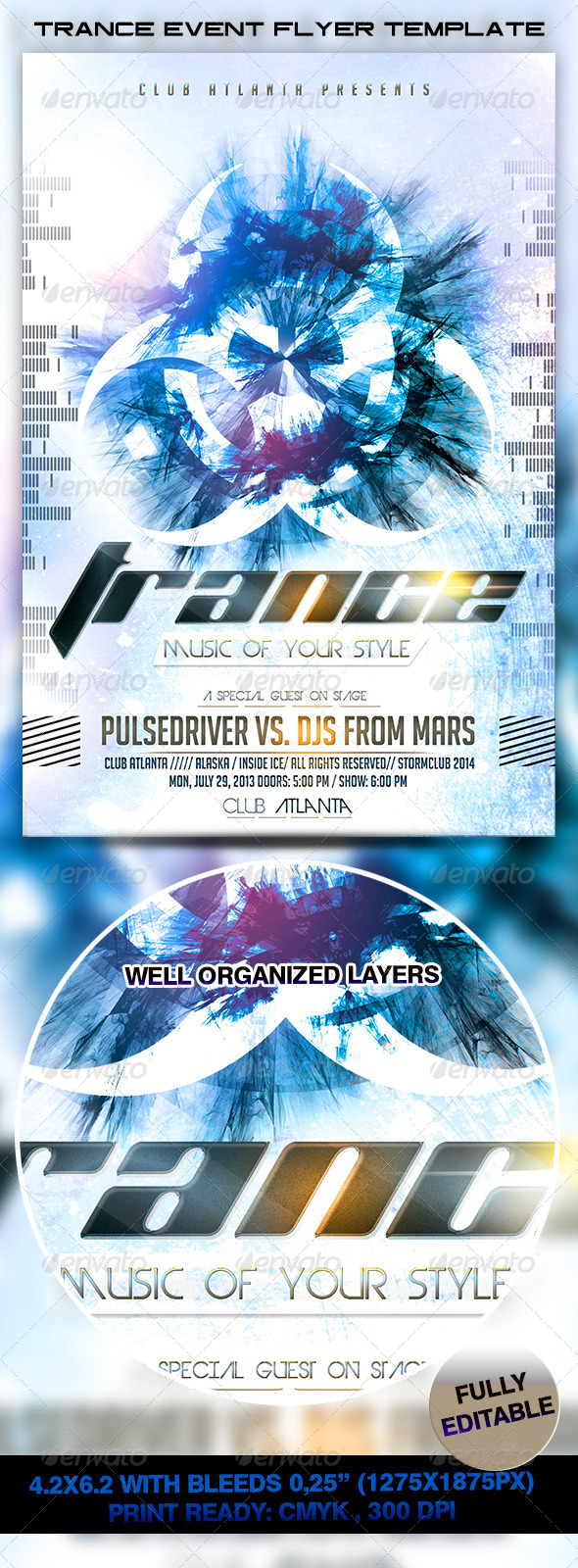 GraphicRiver Trance Event Flyer Template 7181242