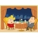 Gentleman and Lady in Restaurant - GraphicRiver Item for Sale