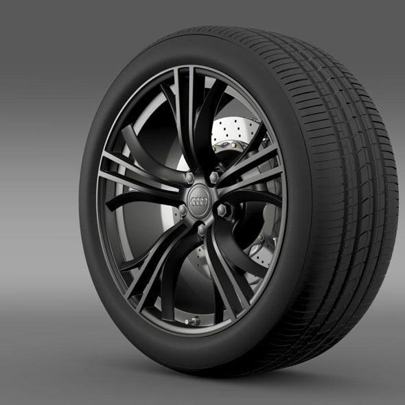 3DOcean Audi R8 V10 plus 2013 wheel 7182172