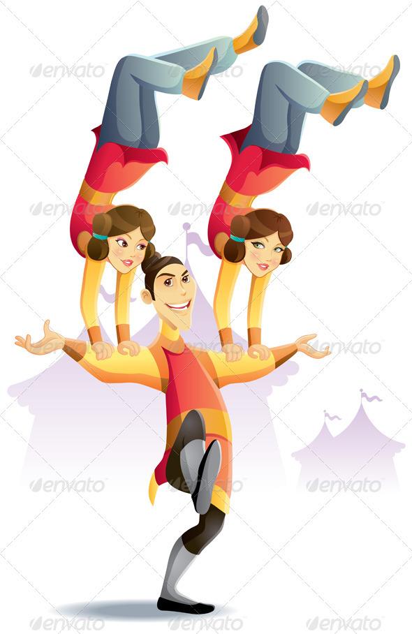 Circus acrobat cartoon - photo#3