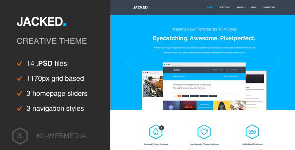 ThemeForest Jacked Creative PSD Template 7182961