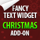 Christmas add-on for Fancy Text Widget