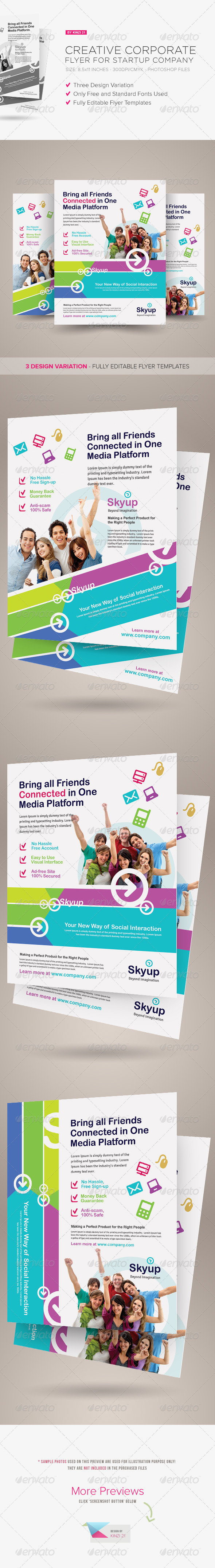 GraphicRiver Creative Corporate Flyer for Startup Company 7185143