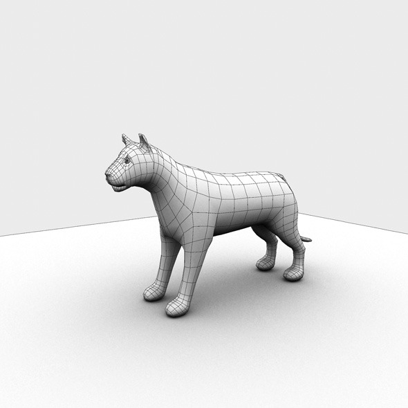 3DOcean Low Poly Base Mesh Tiger 7185646