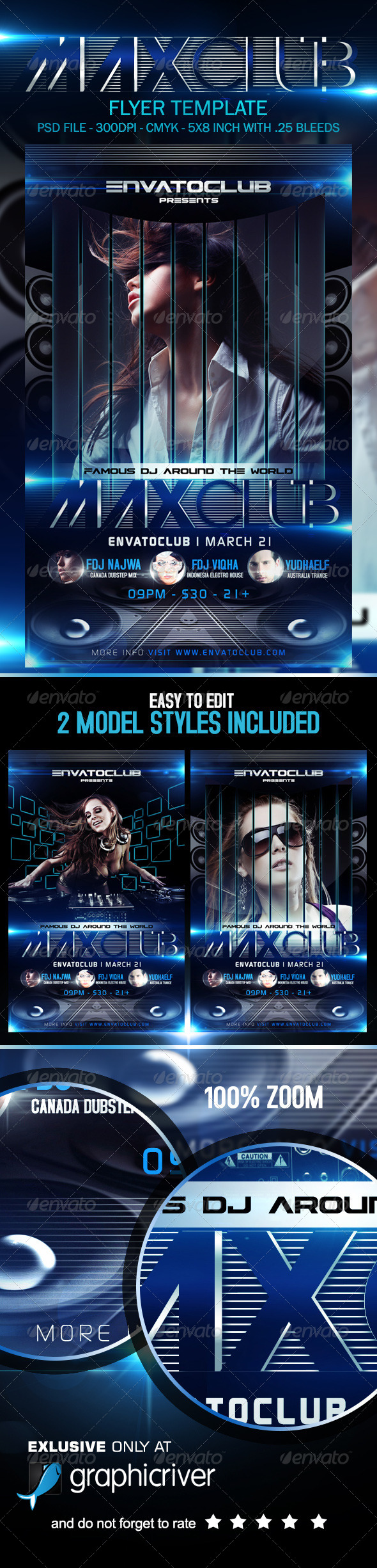 GraphicRiver Maxclube Flyer Template 7186417