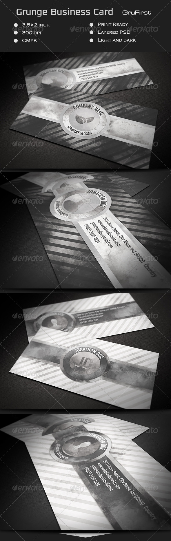 GraphicRiver Grunge Business Card GruFirst 7186815