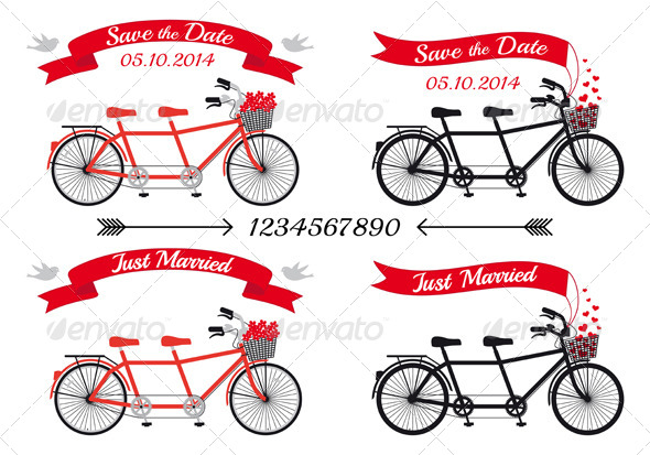 GraphicRiver Wedding Tandem Bicycles 7188883