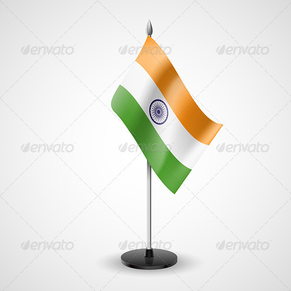GraphicRiver Table Flag of India 7188898