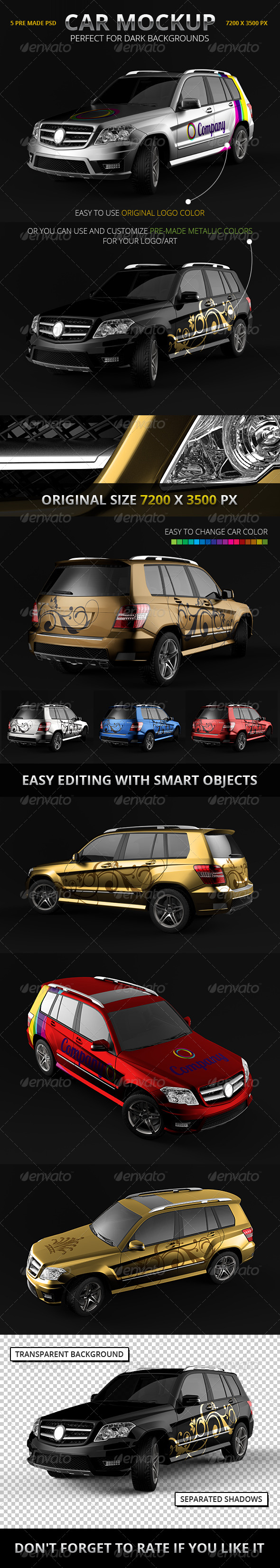 GraphicRiver Car Branding Mockup SUV 7190234