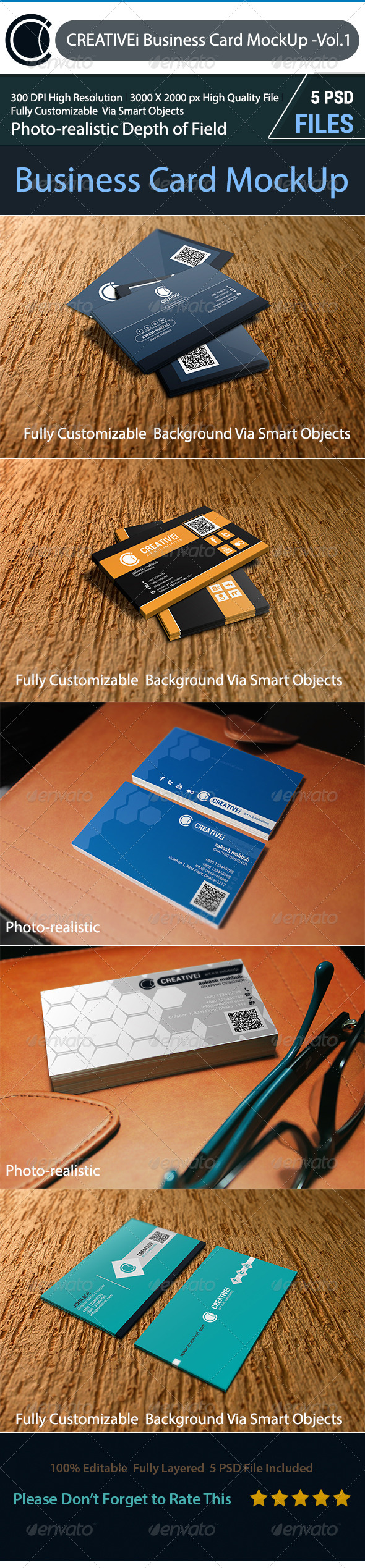 GraphicRiver Business Card MockUp Vol.1 7166857