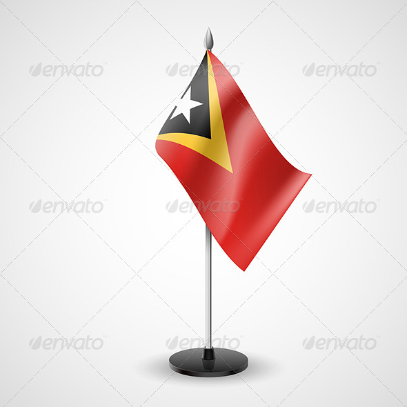 GraphicRiver Table Flag of East Timor 7190637