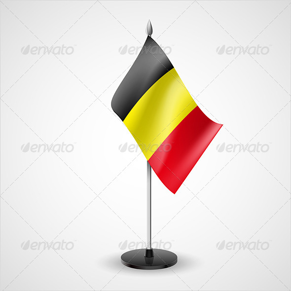 GraphicRiver Table Flag of Belgium 7190838