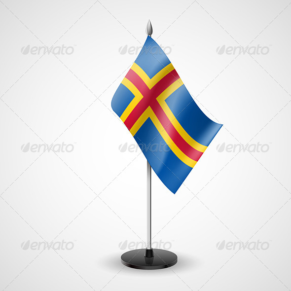 GraphicRiver Table Flag of Aland Islands 7190844