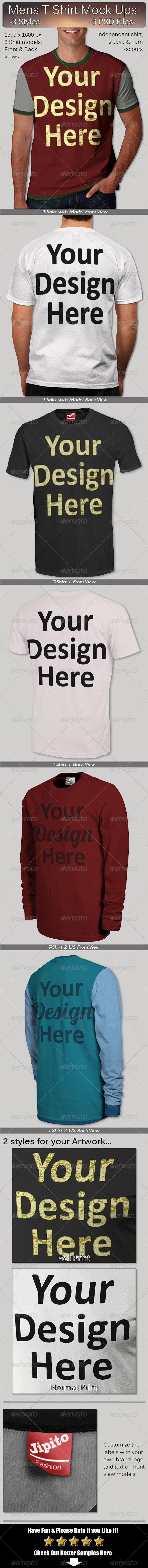 GraphicRiver Mens T Shirt Mock Ups 7191097