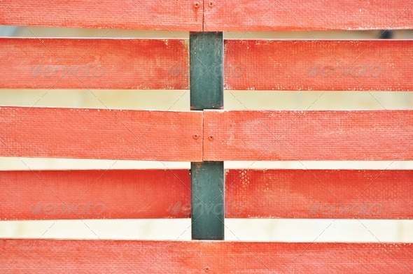 Red Fence - Stock Photo - Images