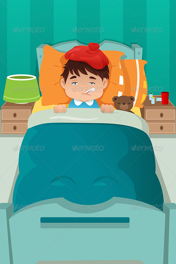 GraphicRiver Sick Kid Resting 7191444
