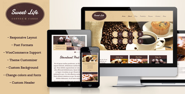 ThemeForest Sweet Life Cafe and Restaurant WP Theme 7055884