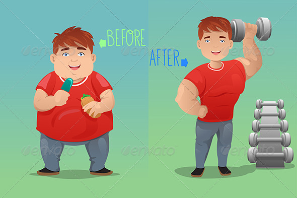 GraphicRiver Before and After Weight Loss 7191908