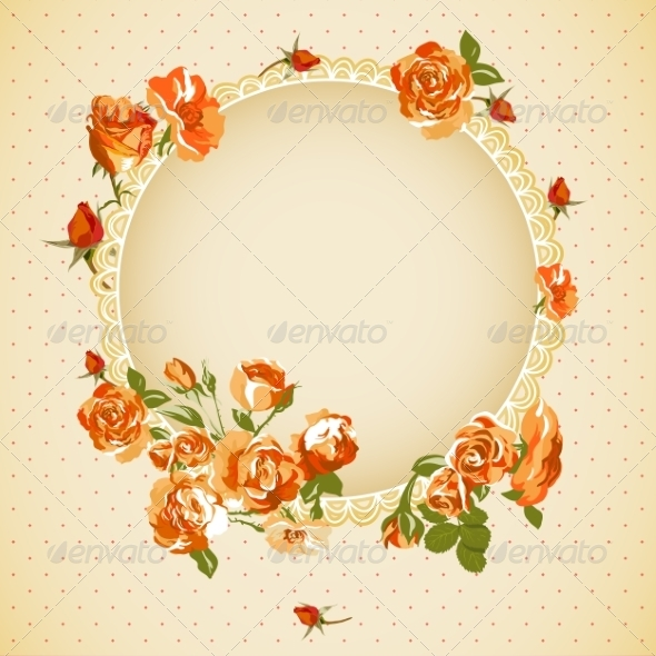 GraphicRiver Vintage Floral Background with Roses 7192165
