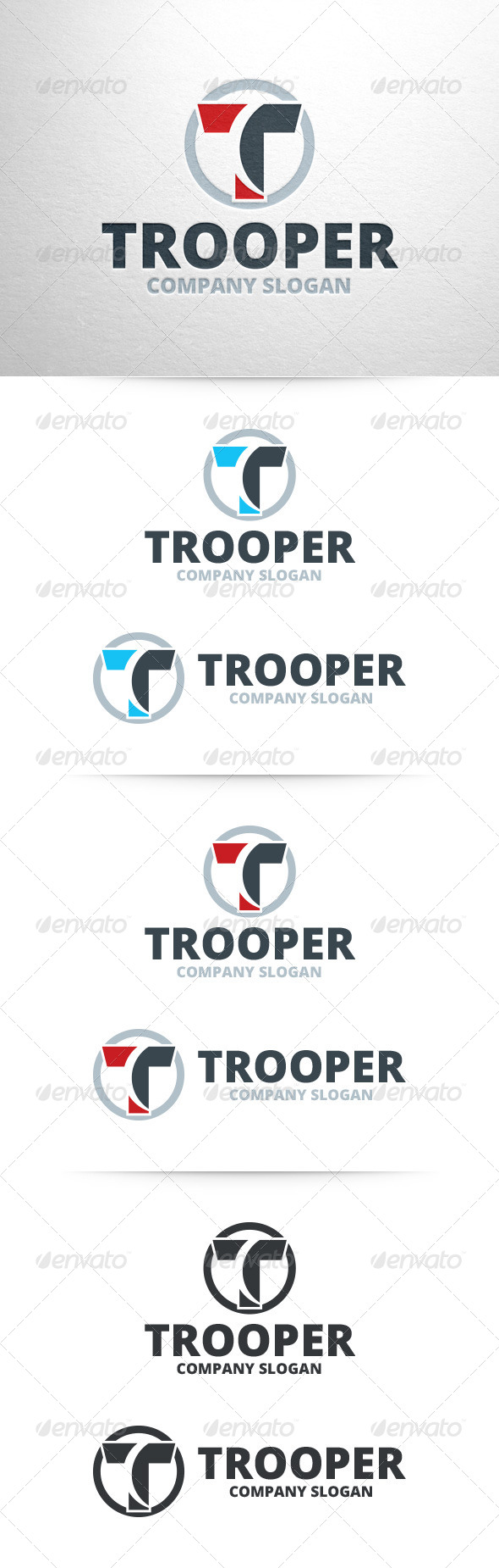 GraphicRiver Trooper Letter T Logo 7192192