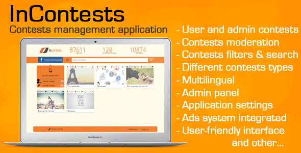 CodeCanyon InContests contests managing application 7192196