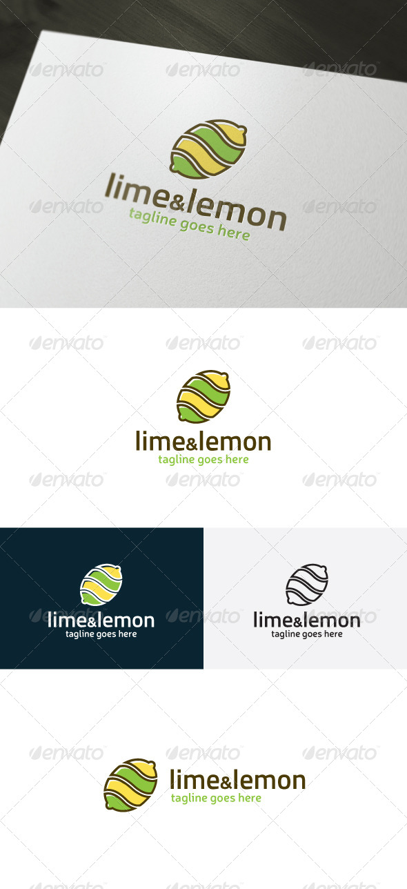 GraphicRiver Lime And Lemon Logo 7192802