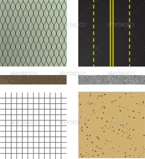 GraphicRiver Set of Asphalt Road Textures 7193037