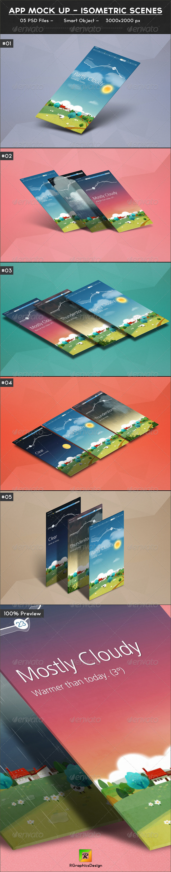 GraphicRiver App Mock up Isometric Scenes 7193121