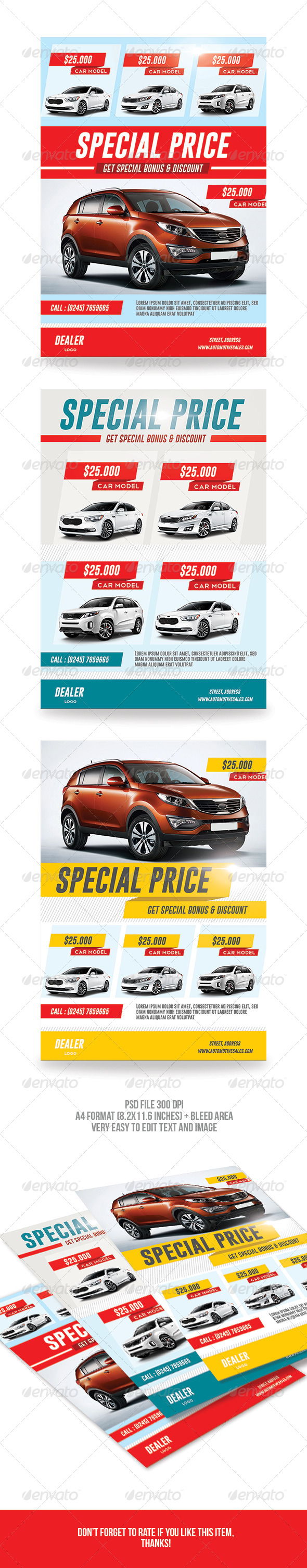 GraphicRiver Car Sale Flyer 7193129