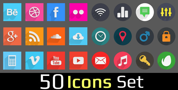 3DOcean 50 Icons Set 7193370