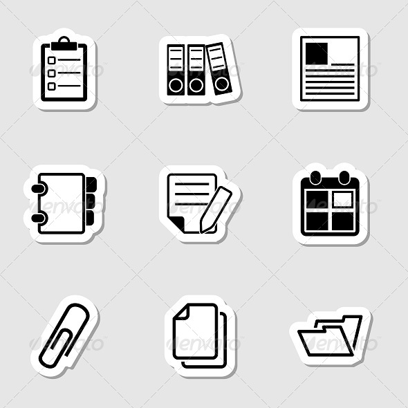 GraphicRiver Document Office Icons as Labels 7193494