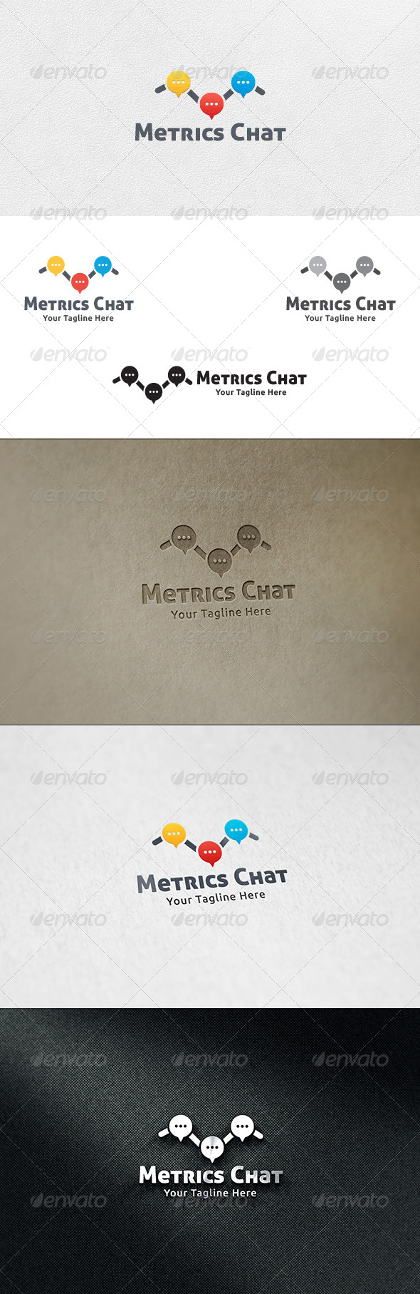 GraphicRiver Metrics Chat Logo Template 7193506