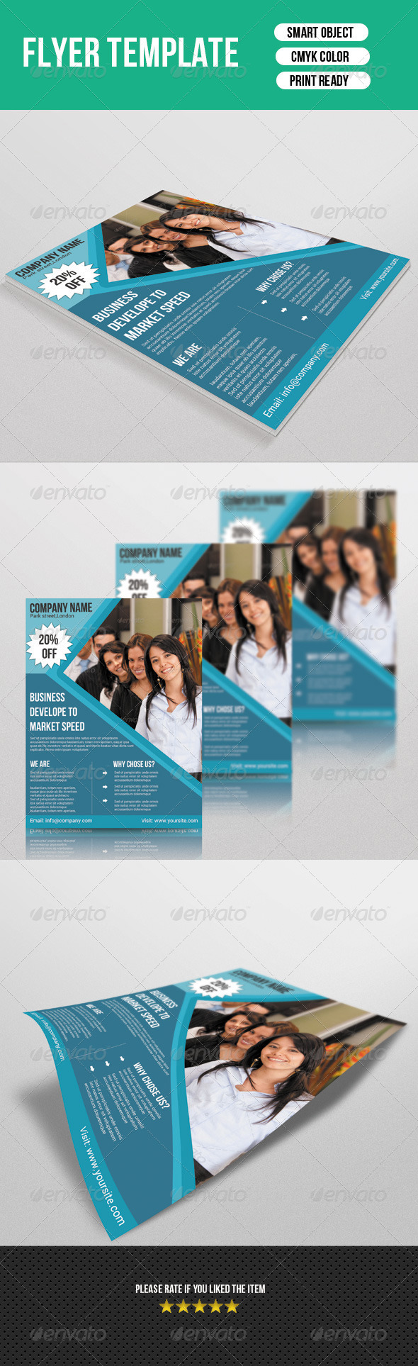 GraphicRiver Corporate Flyer Template 7194105