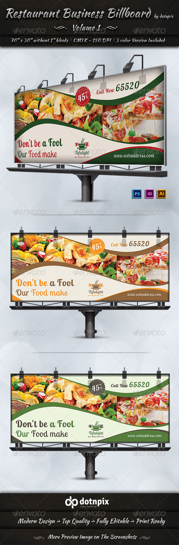 GraphicRiver Restaurant Business Billboard Volume 1 7194434