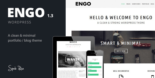 Engo - Smart & Minimal Wordpress Theme - Portfolio Creative