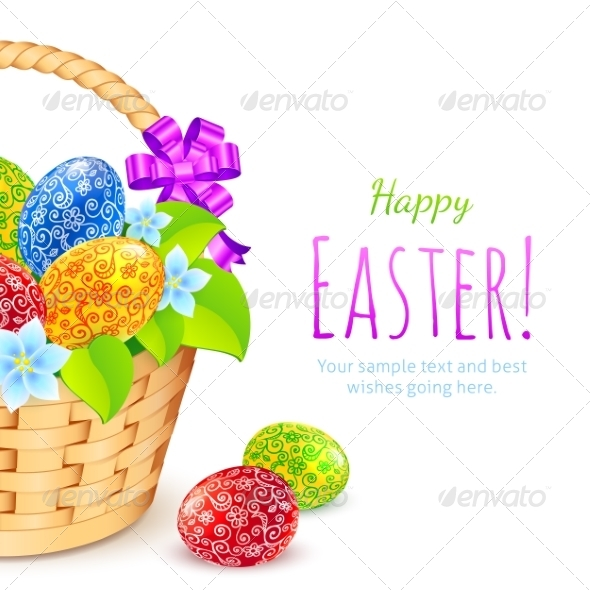 GraphicRiver Easter Eggs with Flowers in Bucket 7195195