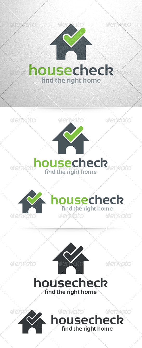 GraphicRiver House Check Logo Template 7195228