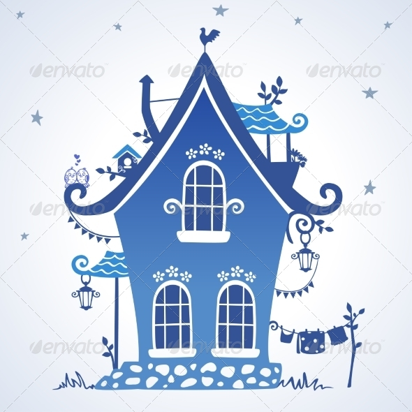GraphicRiver Houses Silhouette 7195396