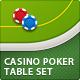 Casino Poker Table Set (4 s-Graphicriver中文最全的素材分享平台