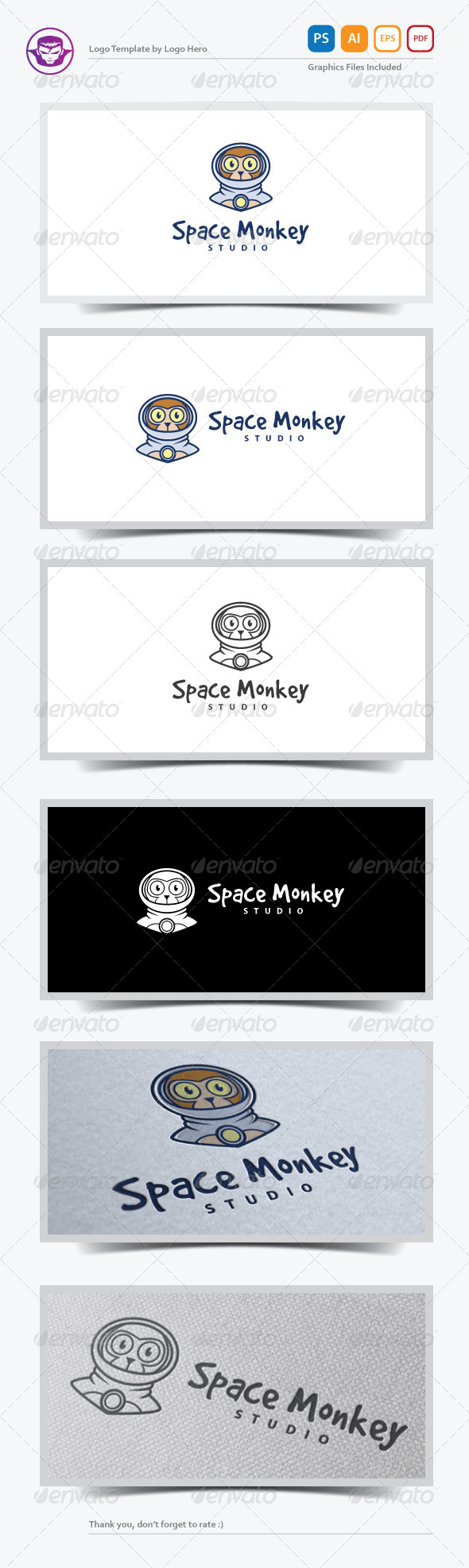 GraphicRiver Space Monkey Logo Template 7195803